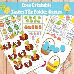 Easter File Folder Games - Itsy Bitsy Fun