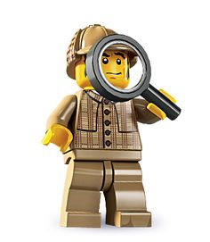 "Detective -- ""Why, the solution is as simple as clicking two bricks together!"" 