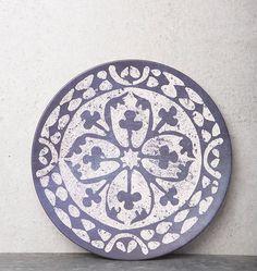 UNC - Plate European tile - bamboo - diameter 30 cm - Plates