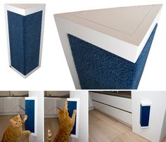 Cool Triangle Scratching Post: UrbanCatDesign Modern Cat Furniture from The Netherlands