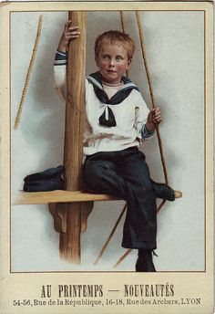 Toutes les tailles | chromo au printemps lyon - boy in sailor suit sitting on yard arm | Flickr : partage de photos !