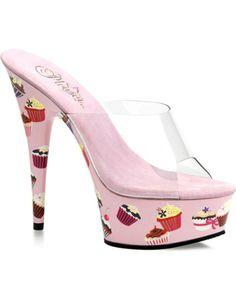 Cupcake Stiletto Womens Shoes  #MardiGras