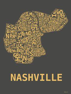 Nashville Hood Print (I see you, Richland!)  @Sarah Crowe