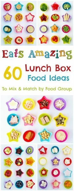 60 Kids Lunch Box Food Ideas to Mix and Match! - A really useful guide with tips for creating a quick, easy, healthy AND balanced packed lunch! Never run out of school lunch ideas again! - Eats Amazing UK