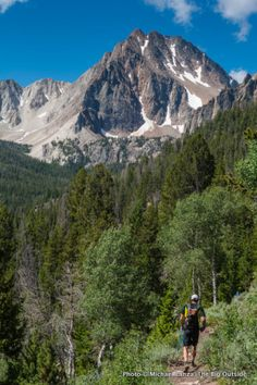 Head in the clouds: thinking about wilderness on a big dayhike in Idaho's white cloud mountains with Michael Lanza   - Trail 47 below Merriam Peak.