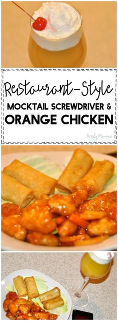 This mocktail screwdriver and orange chicken restaurant style recipe is AMAZING and delicious! It's the perfect date night in recipe! Lunch Recipes, Yummy Recipes, Breakfast Recipes, Dinner Recipes, Healthy Recipes, Homemade Stir Fry, Chinese Bbq Pork, Date Night Recipes, Good Food