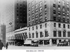 Manhattan's Park Central Hotel with 'A' marking where Arnold Rothstein was shot on Nov. 8 1928 and 'B' marking where revolver - Stock Image Arnold Rothstein, Manhattan Park, New York Travel, Revolver, Central Park, Stock Photos, Image, New York Trip, Revolvers
