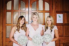 The Bridesmaids wearing pale pink with white gypsophila bouquets before the wedding ceremony. Groomswear by Louis Copeland & Sons Reception: Borris House Photography by: Katie Kav Photography Gypsophila Bouquet, Bouquets, Diy Spring Weddings, Wedding Ceremony, Reception, House Photography, Pale Pink, Real Weddings, Submission