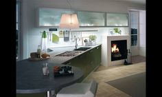 KITCHEN KRISTAL in Spring Green matt finish.  Many colors available in gloss or matt finish.   #kitchencabinets #customcabinets #kitchenkristal #home #Italian