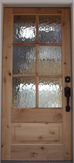 knotty alder with rain water glass - great for pantry and or laundry room door.