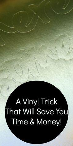 Easy vinyl trick - spray painting vinyl- genius!