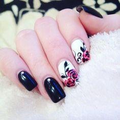 Creative Rose Nail Designs
