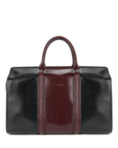 SALIKI | Embossed leather holdall - Black | Bags | Ted Baker