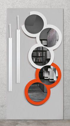 LUNA CRESCENTE Wall-mounted #mirror by @rondadesignsrl