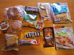 Ultralight Backpacking Meal Plan
