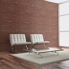 Brick Simple Design x Wallpaper East Urban Home Outdoor Sofa, Outdoor Furniture, Outdoor Decor, Buy Wallpaper Online, Barcelona Chair, Sun Lounger, Simple Designs, Beautiful Homes, Rum