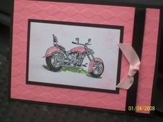 Pink Motorcycle by schelly21 - Cards and Paper Crafts at Splitcoaststampers