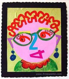 Number Portrait... Art activity?