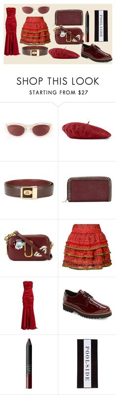 """latest fashion collection"" by monica022 ❤ liked on Polyvore featuring RetroSuperFuture, Gucci, Lanvin, STELLA McCARTNEY, Marc Jacobs, Poupette St Barth, Dolce&Gabbana, Mephisto, NARS Cosmetics and Chance"