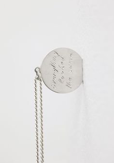 From Cristina Guerra Contemporary Art, Christian Andersson, Everything looked the same Hand graved silver medallion, silver chain, 30 × 25 cm Sculpture Art, Sculptures, Dog Tag Necklace, Everything, Contemporary Art, It Works, Artsy, Christian, Artwork