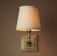 20TH C. Parisian Telescoping Single Sconce - Antique Brass $165