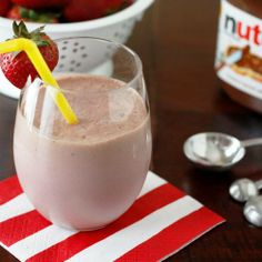 ingredients    3/4 cup Plain Yogurt  1 Banana  2 tablespoons Nutella  directions    Place ingredients in blender.  Blend until smooth.