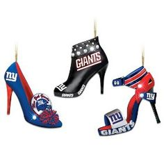 NFL New York Giants Steppin' Out Stiletto Shoe Ornament Collection  by Bradford Exchange