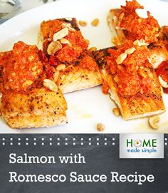 deconstructed romesco sauce salmon with deconstructed romesco sauce ...