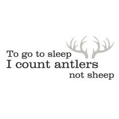 """Geboortesticker """"Antlers"""""""