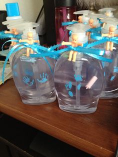 Amazing Baby Shower Favors: Buy A Clear Softsoap And Remove The Labels And Put  Little Plastic