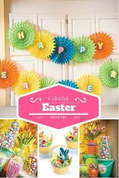 Easter tips and ideas for creating an inviting Easter celebration. Candy topiary and candy buffet. Little bunny cupcake baskets and more. Come check out all our ideas for your Easter.