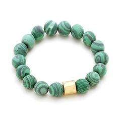 AFFIRMATION: welcome positive transformation into my life.    Style: 322082  Natural Green Malachite Jasper Round Gemstones  Gold Hum Prayer Wheel  Commercial Strength, Latex-Free Elastic Band    GREEN MALACHITE JASPER    Amplifies, Protects, Healing  Primary Chakras: Heart, Throat, Third Eye  Astrological signs: Capricorn, Scorpio     Malachite is a stone of balance, abundance, manifestation and intention.  Malachite absorbs energy and draws emotions to the surface.  It clears and activates…