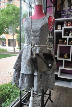 GREY LACE FLARE STYLE DRESS FROM OUR EUROPEAN COLLECTION  OUR ONLINE STORE COMING SOON https://www.leobsession.com/