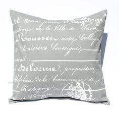 Decorative Pillows Cushions Cover  Gray & White by SewGracious, $15.00