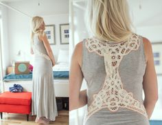 @Nesreen Mills Fix maxi // crochet back detail