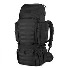 7cf1a88c8e Mardingtop 60L Internal Frame Backpack Tactical Military Molle Rucksack for Camping  Hiking Traveling with Rain Cover