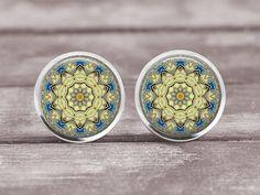 Earrings Jewelry 12mm Mandala 4  Choice of by MaDGreenCreations