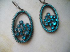 Beautiful Dramatic Dark Turquoise Rhinestone by RosieandZoe