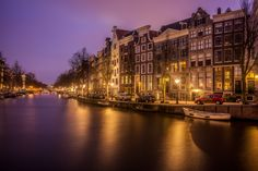 Photo Blue Hour Amsterdam by Patrick Asselin on 500px