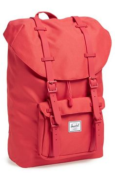Herschel Supply Co. Little America - Mid Volume Backpack Black Leather Backpack, Leather Briefcase, Leather Bags, Pink Leather, Mesh Backpack, Backpack Bags, Tote Bags, Swiss Army Bag, Herschel Backpack