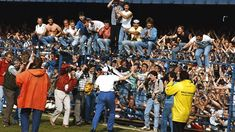 Derby County Manager Arthur Cox celebrates promotion with fans after a Today League Division Two match against Plymouth at the Baseball Ground in Derby, England, Derby County won the match and. Derby County, Soccer Shirts, Bbg, Crowd, Football, Baseball, Promotion, Champion, Management