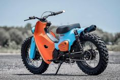 K-Speed Honda Super Cub Scrambler Honda Cub, Honda Motorcycles, Custom Motorcycles, Custom Bikes, Motorcycle Design, Motorcycle Style, Super Bikes, Three Wheel Bicycle, Bicycle Sidecar