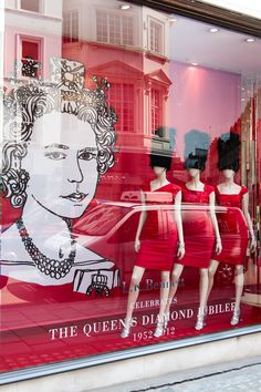 Our lovely new store windows to mark the Diamond Jubilee of Her Majesty Queen Elizabeth II
