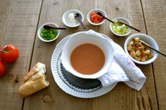 The gazpacho is a cold soup originally from the south of Spain, Andalusia. Made with raw vegetables. Is refreshing, perfect to have it during hot summer days.