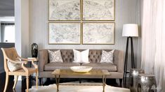 Large Map Wall Covering | Living Room Design Ideas