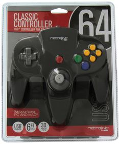 07a7cb7b234 Amazon.com  Retrolink Nintendo 64 Classic USB Enabled Wired Controller for  PC and MAC