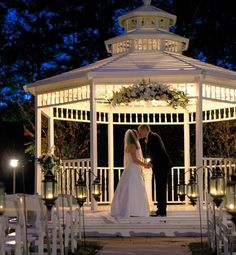 They allow for ceremony and reception or just reception. They can do indoor or outdoor weddings. Personally, I LOVE this gazebo!  50-150 guests