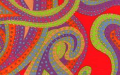 Westminster Fabrics Dancing paisley by Brandon Mably(bright)
