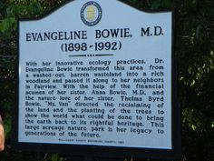 Historical Marker at Bowie Nature Park
