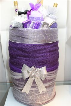 DIY Towel Gift Basket - Handmade by Yours Truly